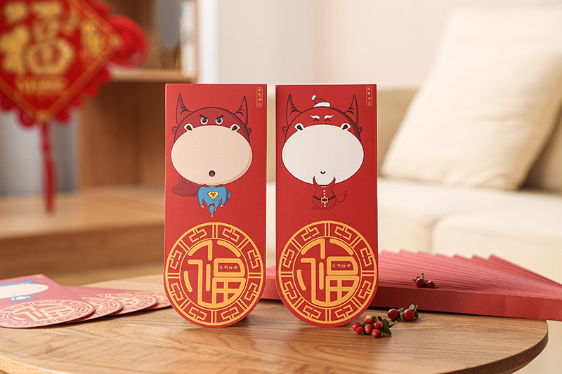2021 OX YEAR CNY CREATIVE RED PACKET ANG POW PACK 6PCS CHINESE NEW YEAR MEDIUM & BIG SIZE THICK QUALITY 3D