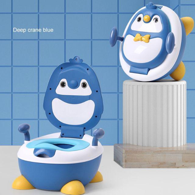 [ READY STOCK ]  Children Pot Cute Penguin Ajustable Height Baby Potty Training Seat Portable Toilet Jualan Murah Kid