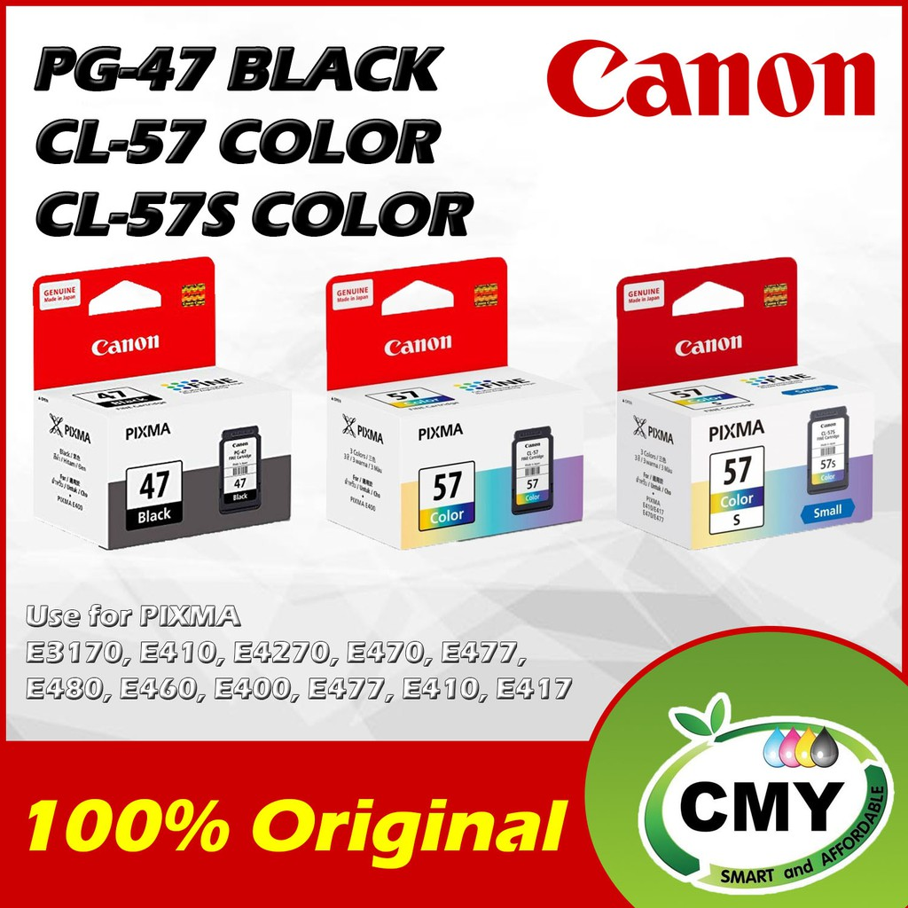 Canon PG-47 Black and CL-57 Color and CL-57s Color - PG47 PG 47 CL57 CL 57 CL57s CL 57s