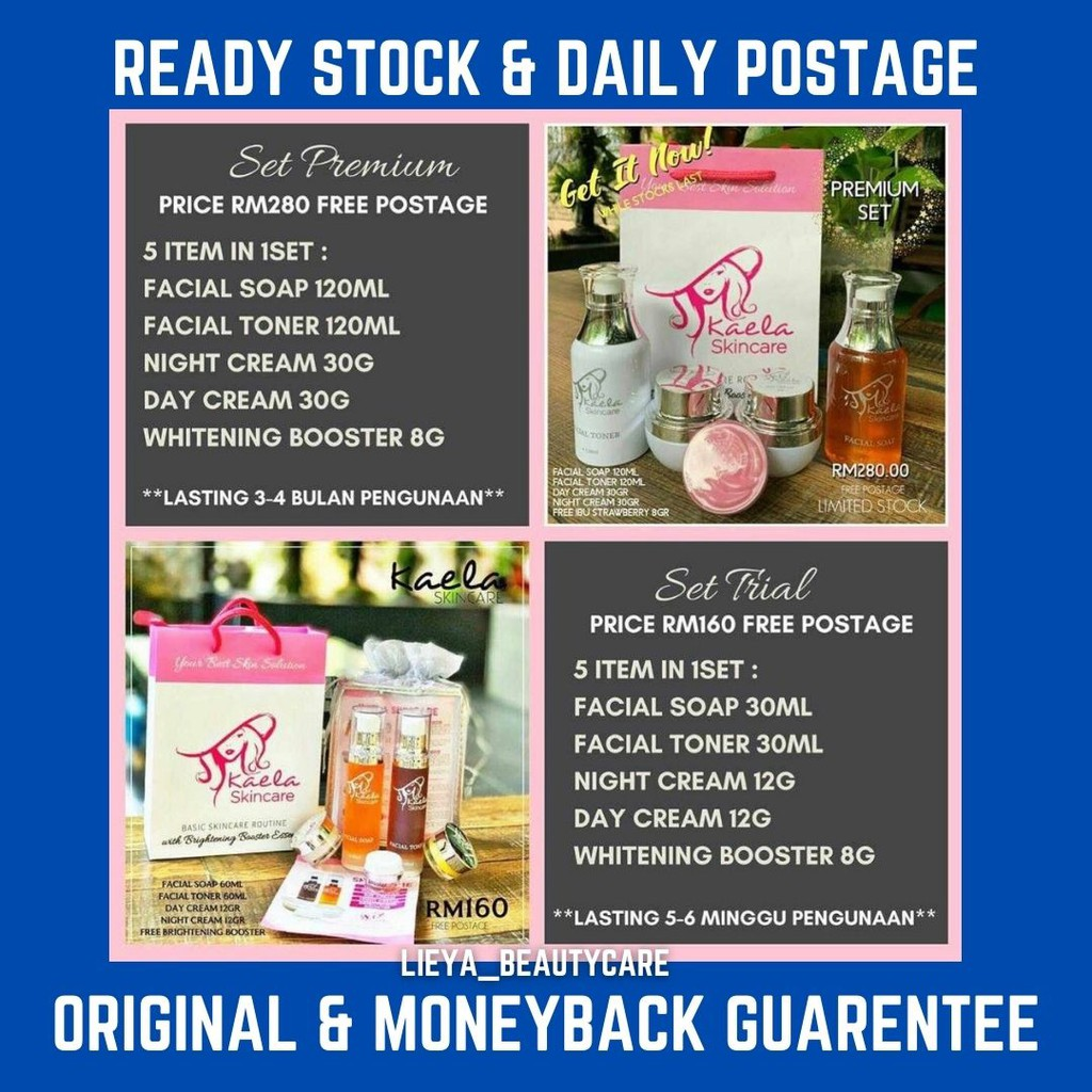 Fast Delivery & Free GiftKAELA SKINCARE FOR ALL SKIN TYPELASTING 2 MONTH , LULUS KKM
