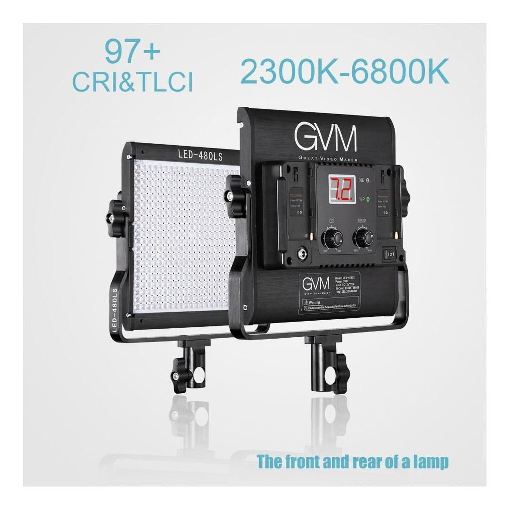 GVM LED 480LS and 672S Video Light Kit- Professional Video Lighting Kit