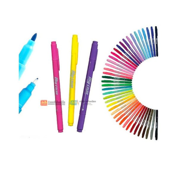 อุปกรณ์งานศิลป์  ปากกาเมจิก MYCOLOR2 2 หัว Dong-A คละสี