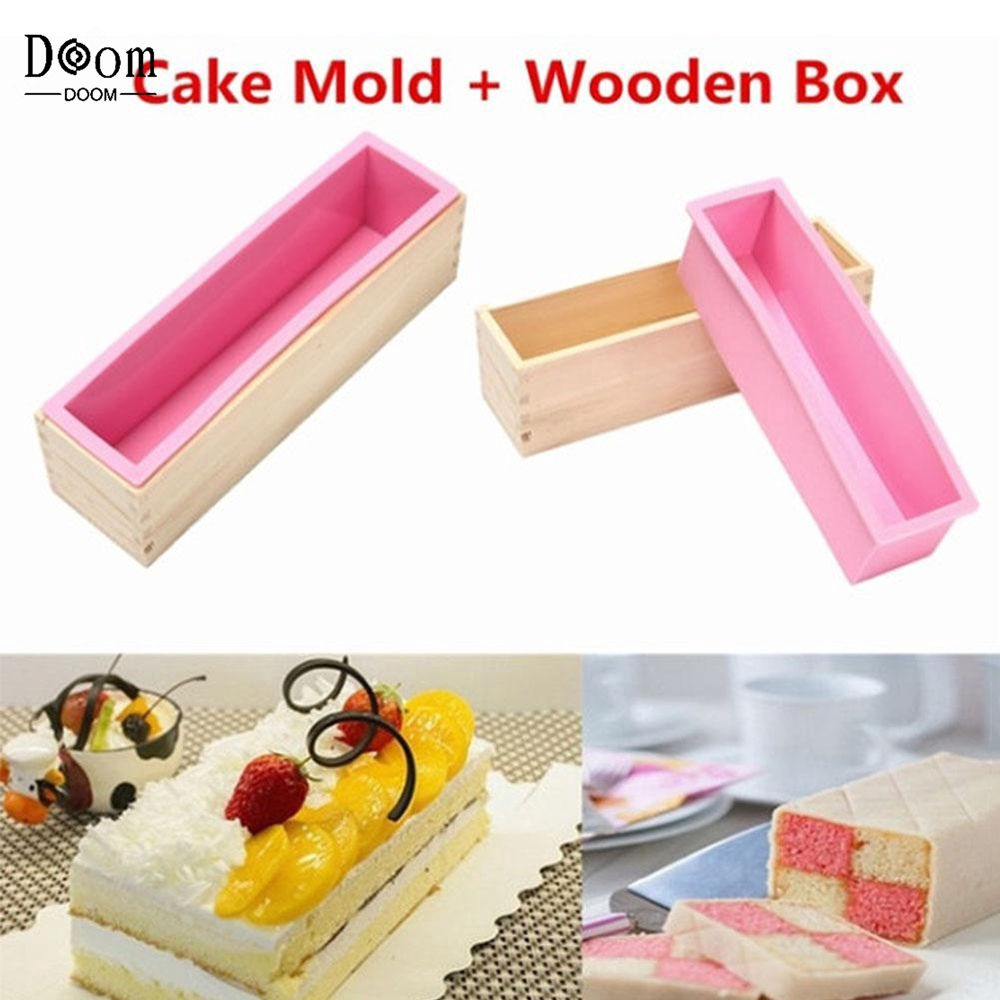 Rectangle Soap Loaf Mold Wood Box Soap Cake Baking Candle Making Tools Supplies