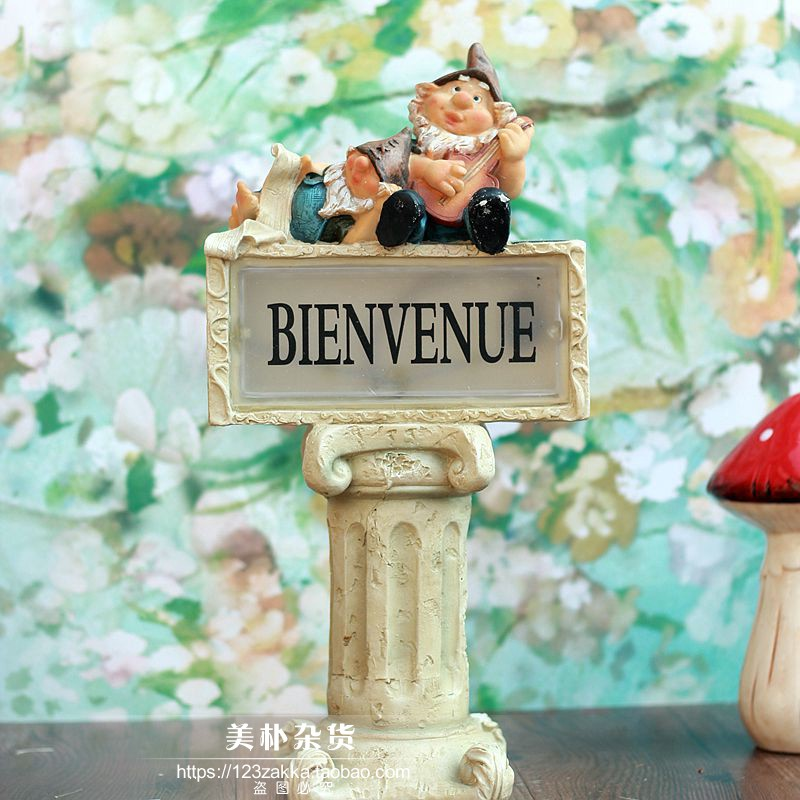 High Grade 6 Resin Garden Villa Coffee Shop Decor Cute Little Man Garden Decorat