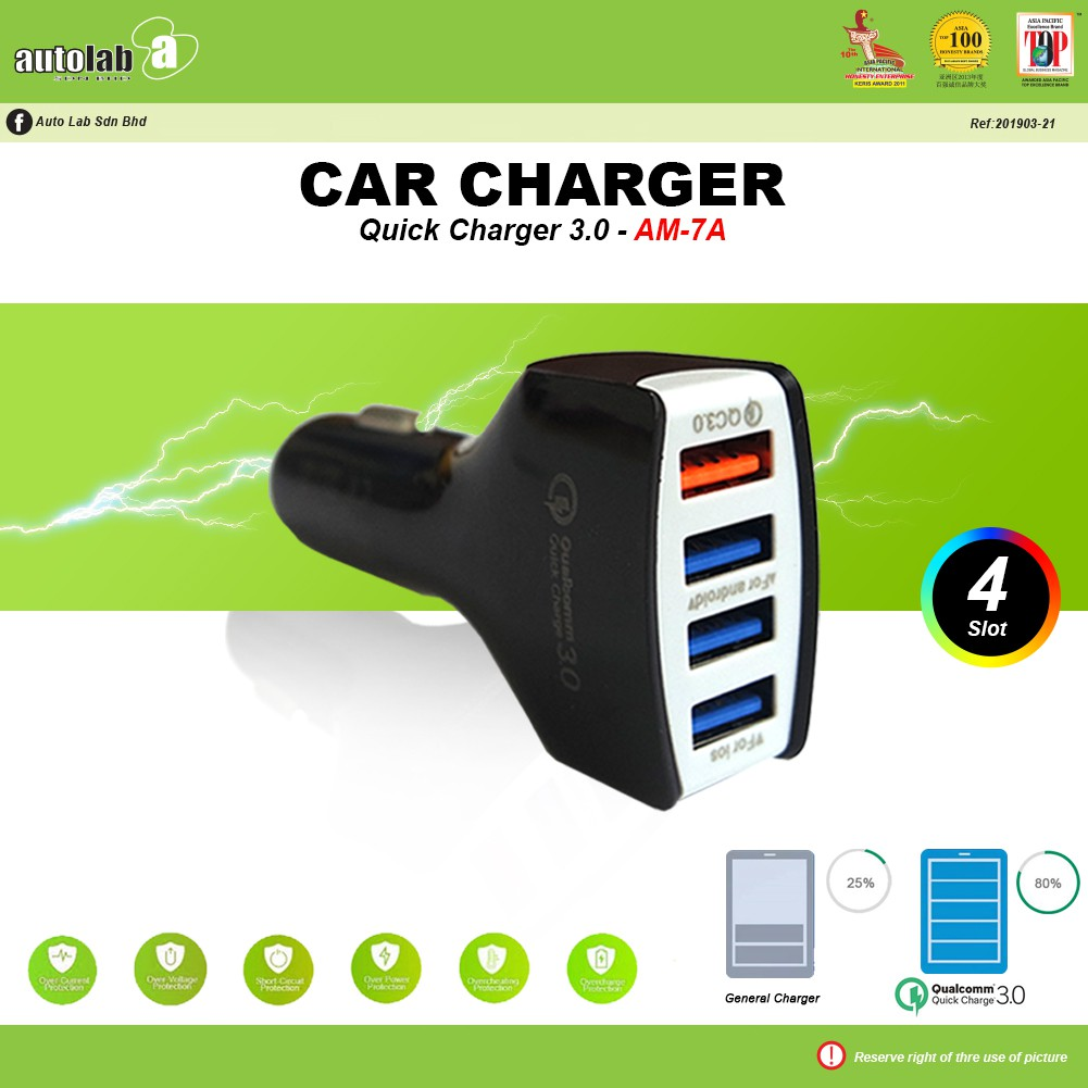 Car Charger Quick Charge 3.0 AM-7A