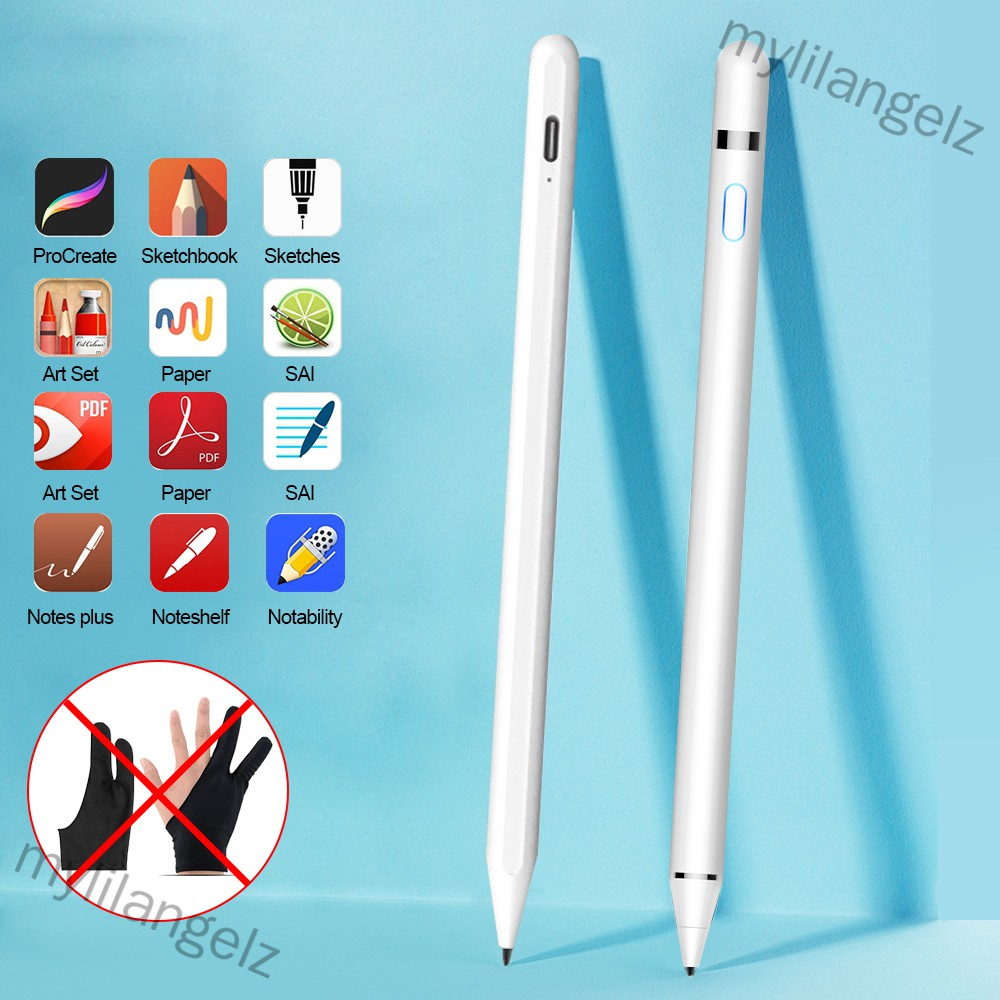 Mylilangelz Stylus Pen for Apple iPad Mini/Pro/Air No Delay Drawing Anti Mistake Touch Pen (READY STOCK)
