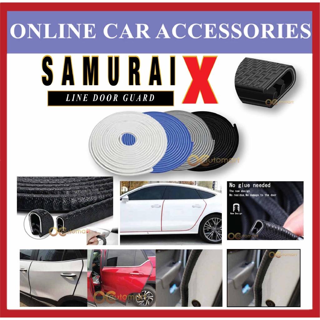 Samurai X Car Door Edge Guards 16Ft (5M) Rubber Car Door Protector U Shape Flexible Car Door Trim For Universal Car