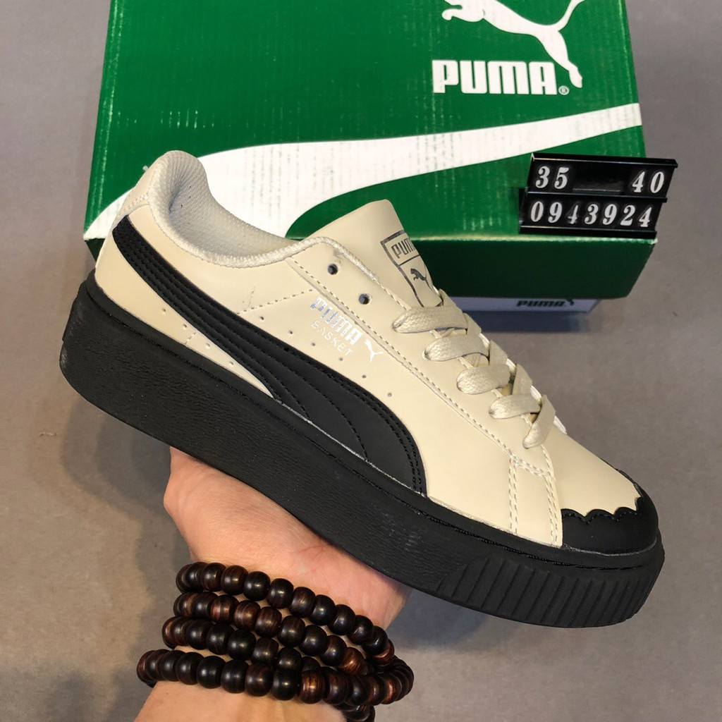 fc102aab23 PUMA Suede Platform Gold Sneakers Women Inspired Shell Toe Shoes Suede Shoes