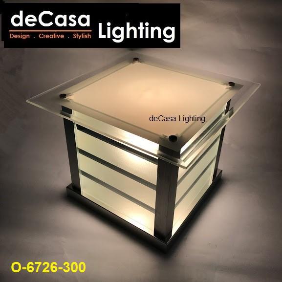 300mm Modern Design Decorative Non-Rusting Glass Decasa  Lampu Pagar Gate Light / Outdoor Pillar Lamp (6726-6727)