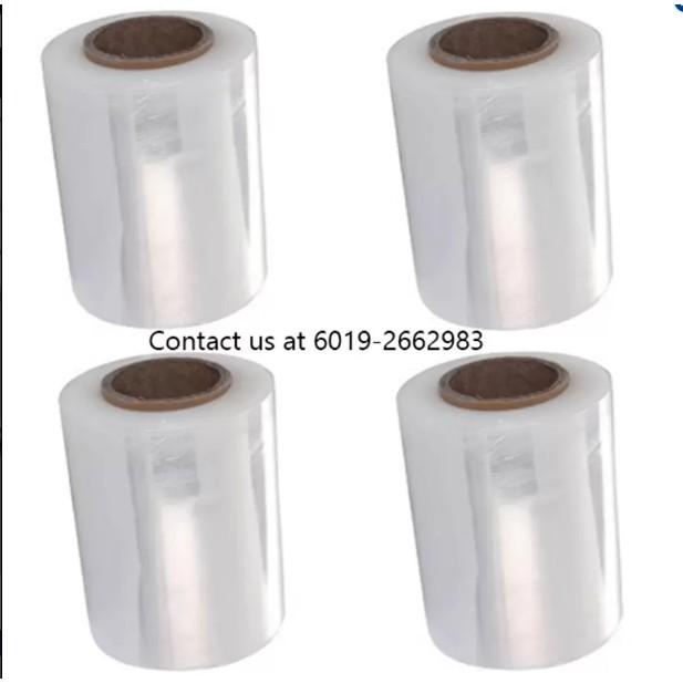( 12 Rolls) 100mm x 250g Stretch Film Transparent Clear