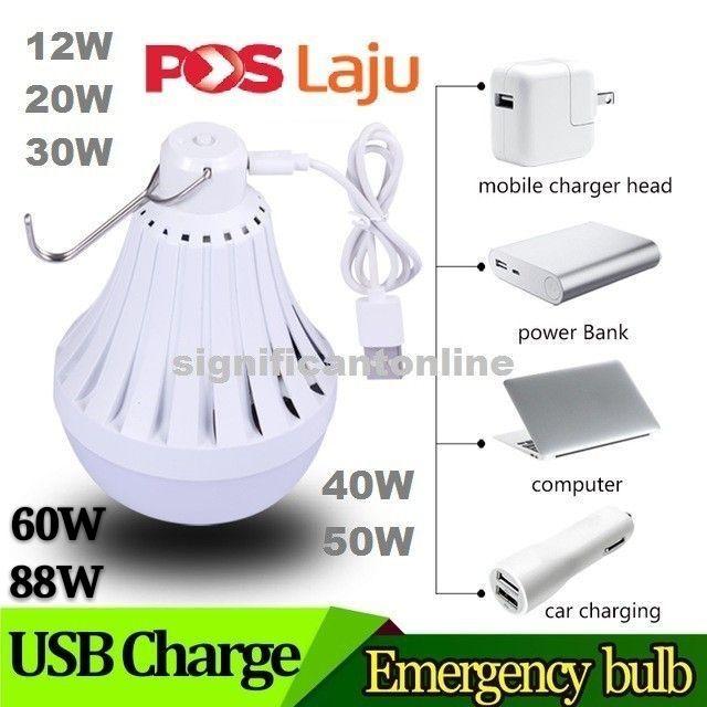 [ READY STOCK ]  USB Rechargeable Led Bulb 20W 30W 40W 50W 60W 88W Pasar Malam Jualan Murah Light Lamp Lampu Pelita Flash