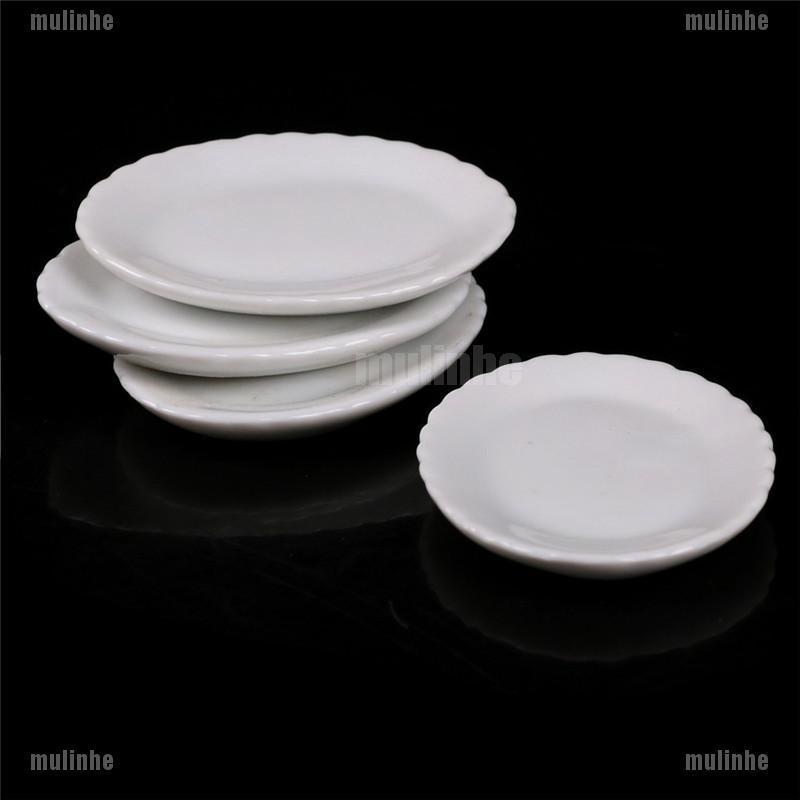4PCS Miniature Dollhouse Accessories Siwan Acene Model Mini Ceramic DishS!