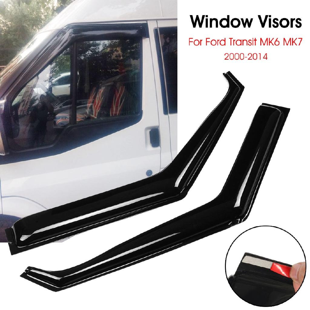 Wind Rain Sun Smoke Guard Deflectors 2pcs For Transit Custom UK SELLER 2012 Onwards