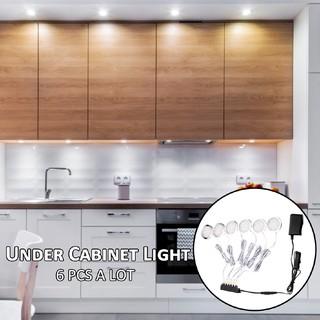 official photos c9488 97cbf 6 Round LED Puck Light Under Cabinet Lighting Kit Kitchen Shelf