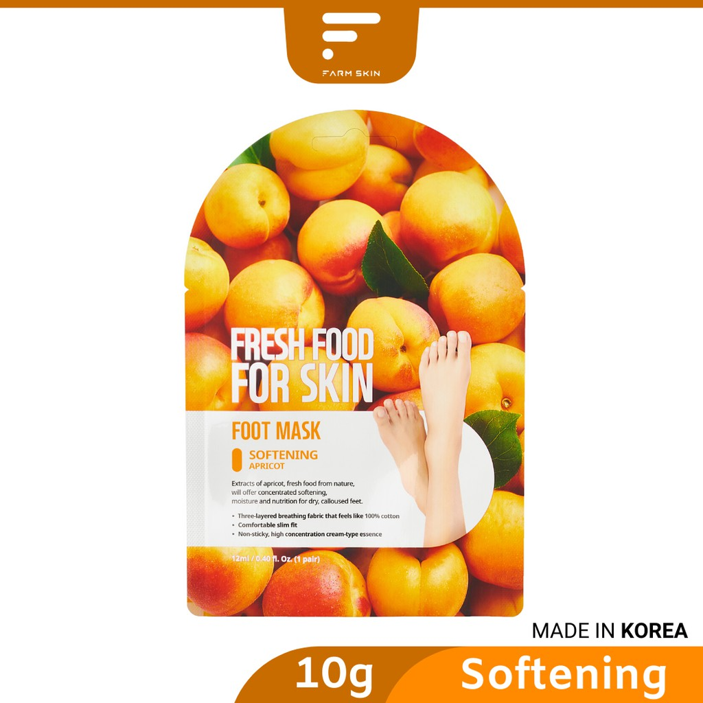 FARMSKIN FRESHFOOD Apricot Foot Mask - Softening