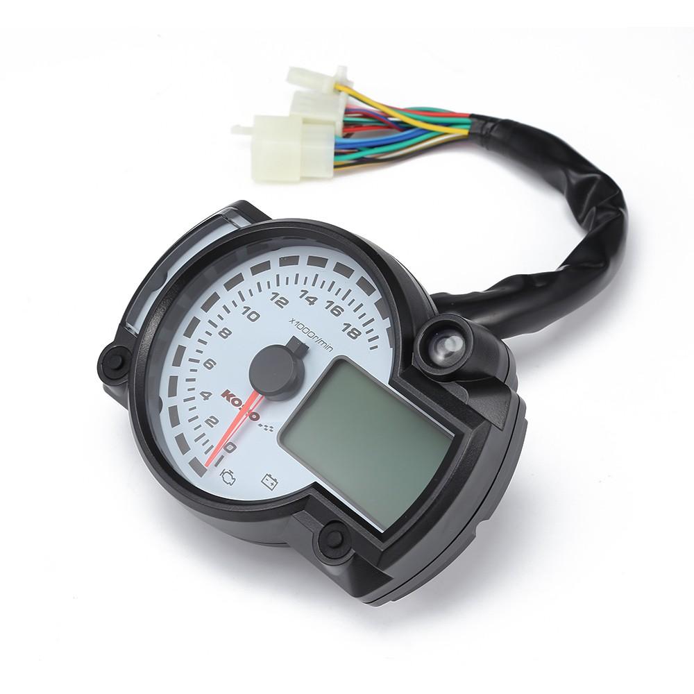 LCD 7-color Display Motorcycle Digital Speedometer