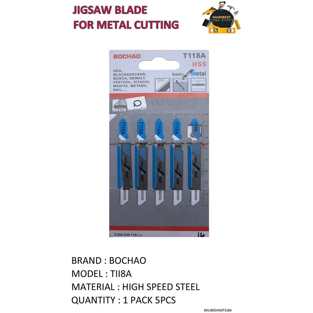 Jigsaw Blades T118A Basic Cut for Metal Pk of 5 for Bosch Dewalt Festool Makita