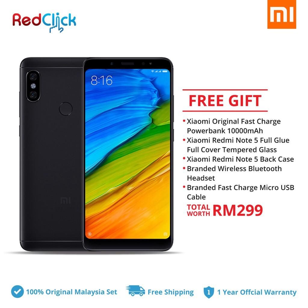 Xiaomi Redmi Note 5 3gb Ram 32gb Rom 4000mah Original Mi 4x Malaysia Shopee