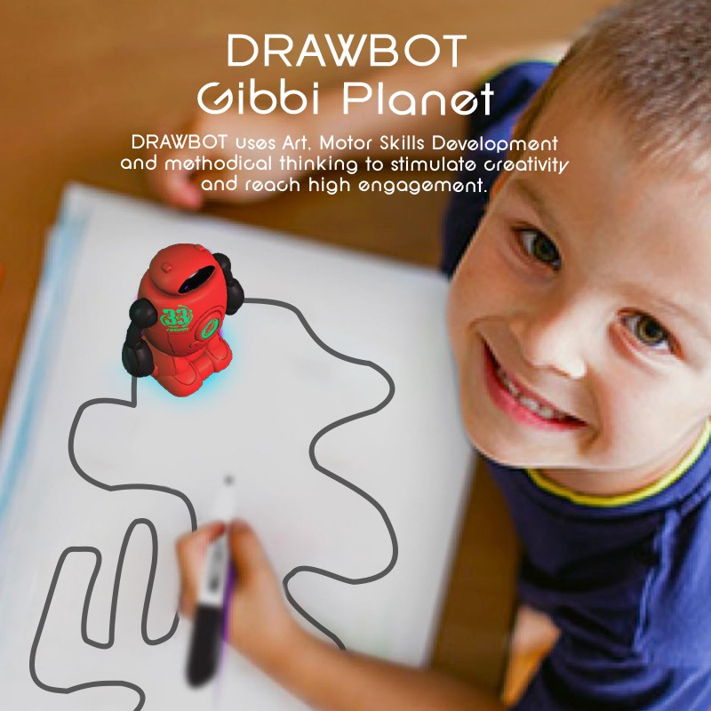 New Novelty Toys Helicmax Draw Line Robot Drawbot Robot Line Tracking
