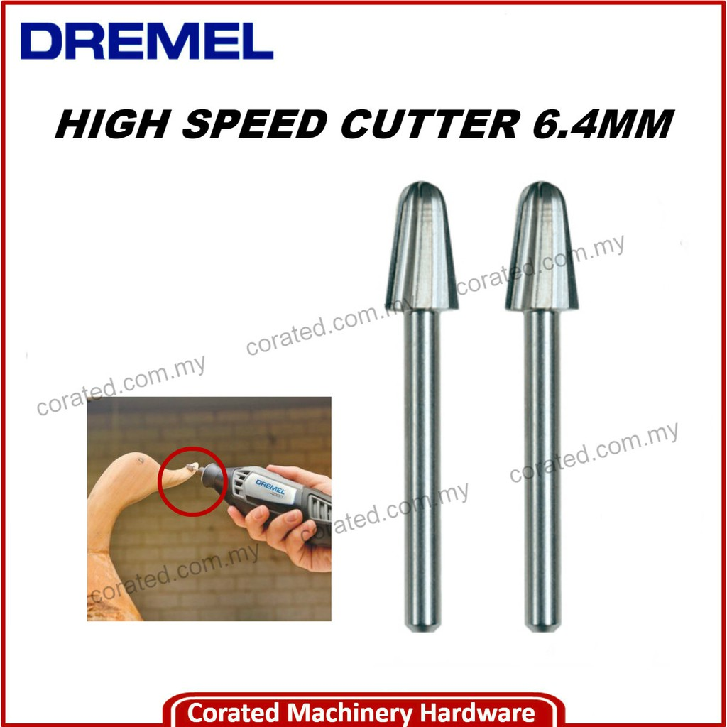 Dremel 117 2 x 6.4mm High Speed Cutter Bit for High Speed Rotary Power Tools