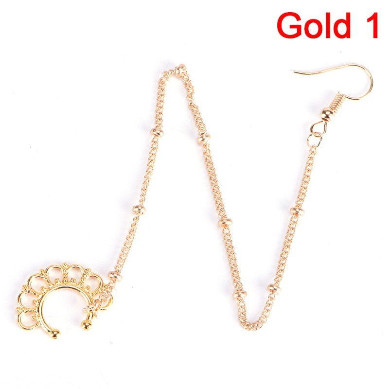 Trmy Nose To Ear Chain Nose Ring Pierced Earring Jewelry Chain