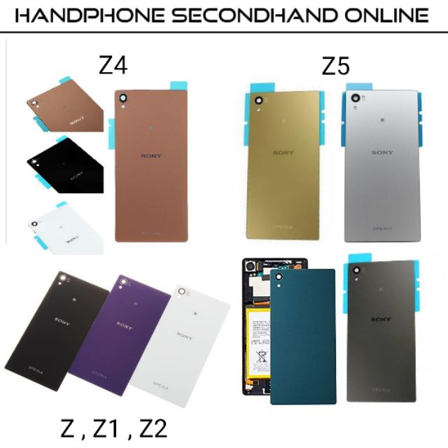 Sony Xperia Z,Z1,Z2,Z4,Z5 Back Cover (Battery Cover) housing z,z1,z2,z4,z5