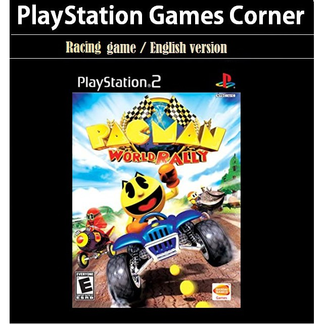 PS2 Game Pac Man World Rally, Racing Game, English version / PlayStation 2