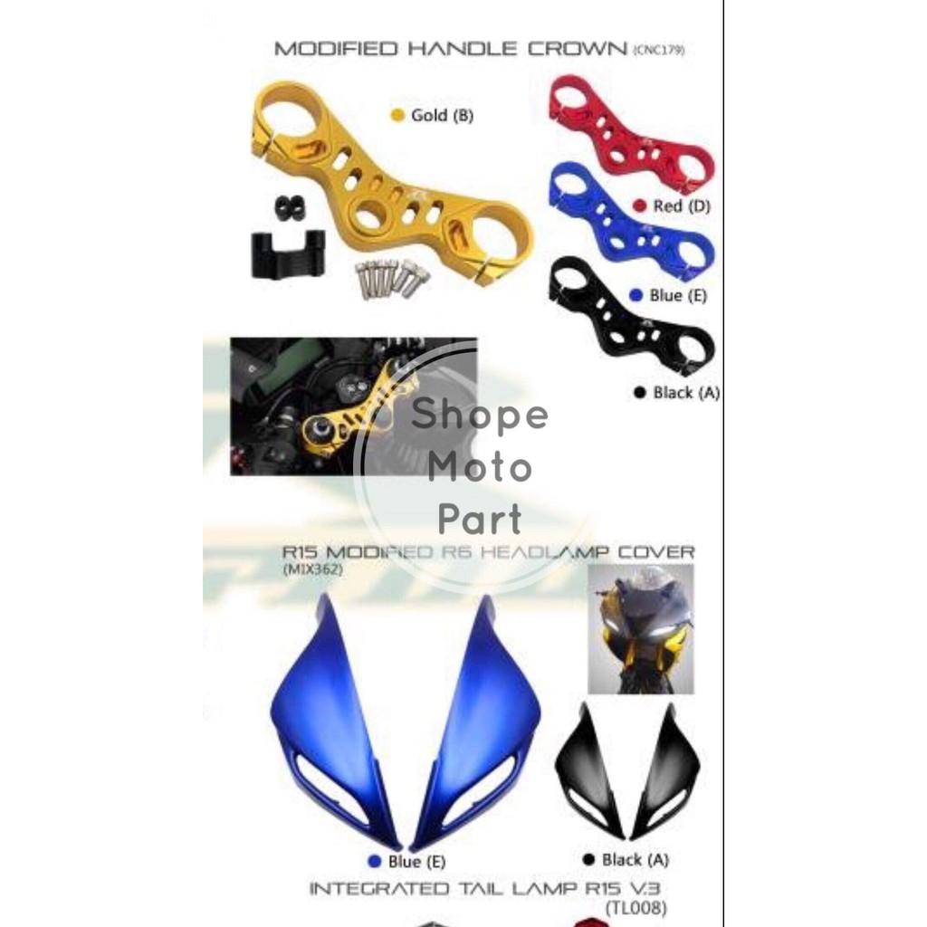 RAPIDO MODIFIED MODIFY HANDLE CROWN YAMAHA R15 V3 YZF-R15 R150 ALLOY ALOY  GOLD