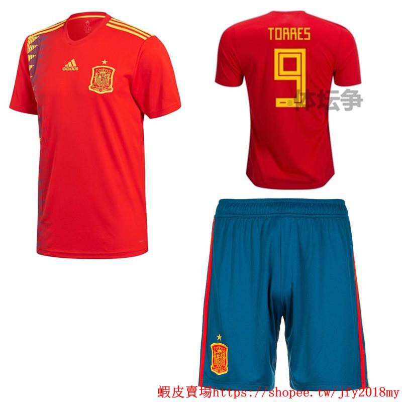 size 40 38fb9 60039 2018 World Cup Spain National Team NO.9 Torres Home kit away kit Football  Jersey shirts