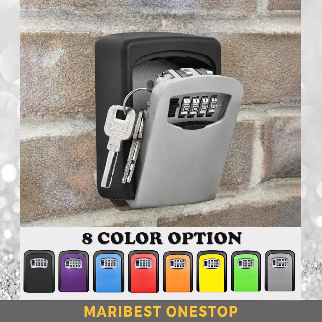 TryE Wall Mount Key Storage Security Lock 4-Digit Combination Key Lockable Box Key Safe Lock Holder Waterproof Code Storage Case