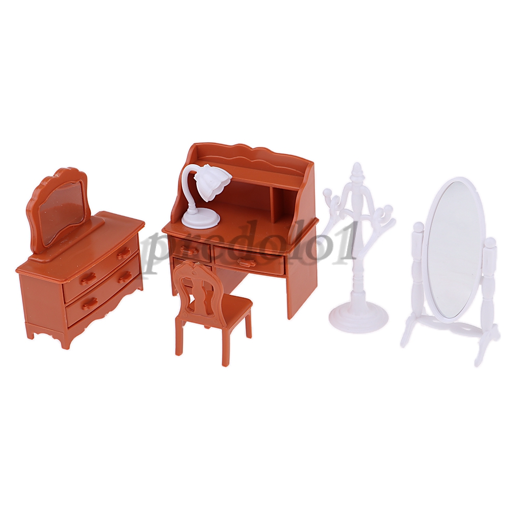 1:12 Dollhouse Miniature Furniture Bedroom Clothing Wardrobe Hangers 4Pcs Set \