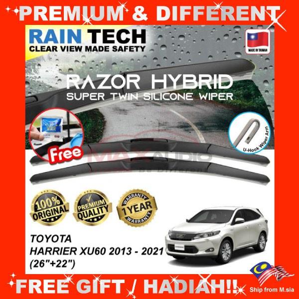[FREE Gift] TOYOTA HARRIER XU60 2013 - 2021 (26/22) RAIN-TECH RAZOR HYBRID Silicone Aerodynamic Clean N Safety Wiper Blade
