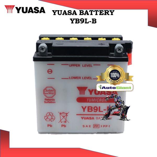 YUASA BATTERY YB 9L-B BENELLI 125 SCOOTER/BSA ROCKET 750/HONDA CMX250C/KAWASAKI H1 SERIES