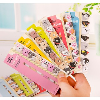 Cute Kawaii Cartoon Animal Finger Unicorn Memo Pad N Times Sticky Note Paper Korean Stationery Cat Planner Sticker School Office Office & School Supplies