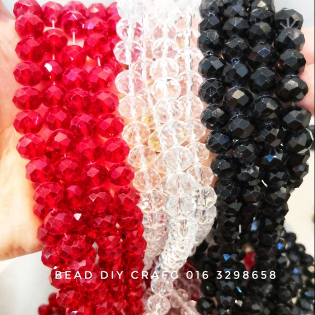 Glass Wholesale 3-16mm Opaque White Rondelle Beads  Spacer Crystal Loose Faceted