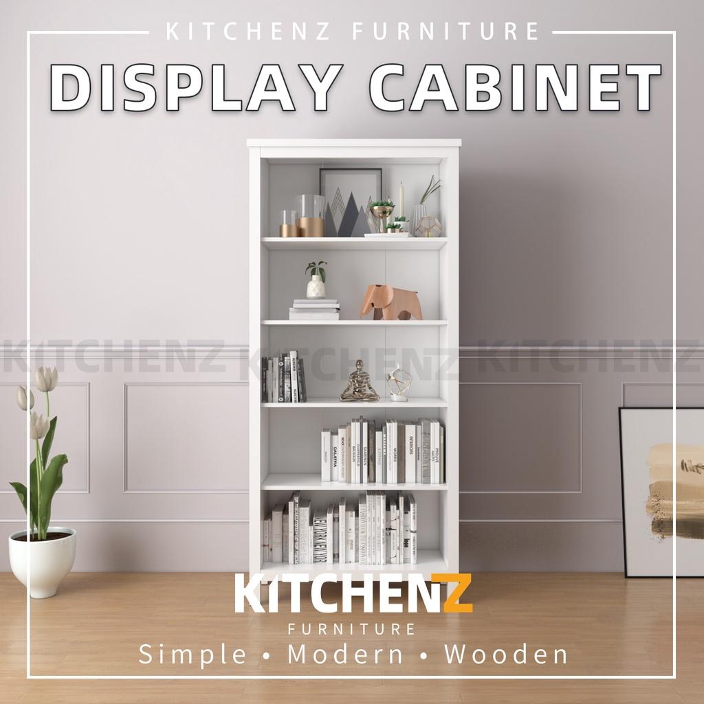 Kitchenz 3FT Paisley Series Display Cabinet Modernist Design Storage Cabinet with Plastic Wood Leg  - HMZ-FN-DC-P1960-WT