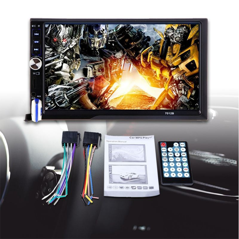 7012B 7 Inch Bluetooth V2 0 Car Audio Stereo Touch Screen MP5 Player  Support MMC