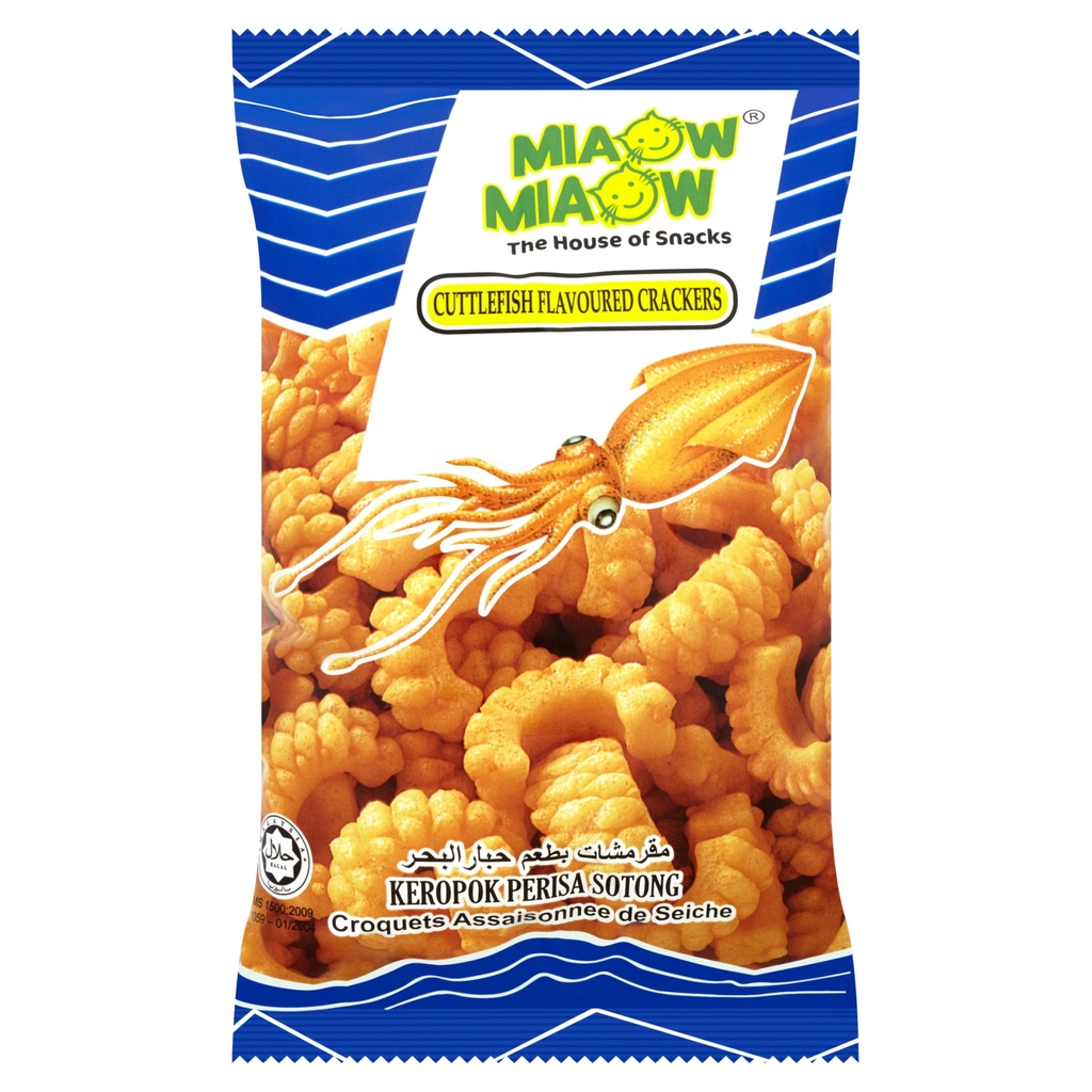 Miaow Miaow Cuttlefish Flavoured Crackers (60g)
