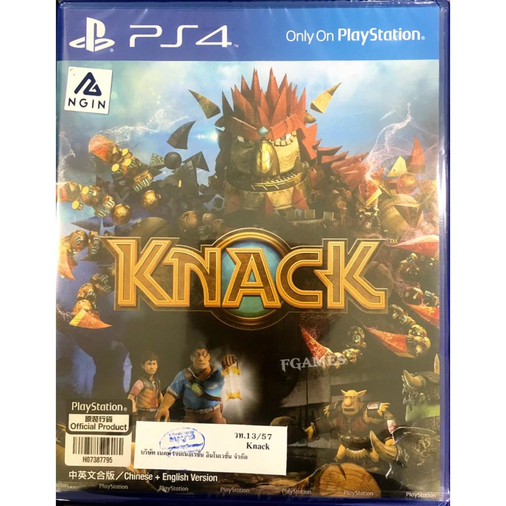 PS4 KNACK (Zone3/Asia)( English ) แผ่นเกมส์ ของแท้ มือหนึ่ง มือ1 ของใหม่