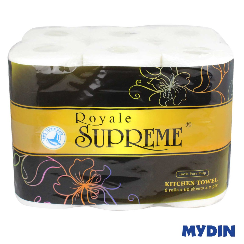 Royal Supreme Kitchen Towel 2-Ply (60s x 6 Rolls)