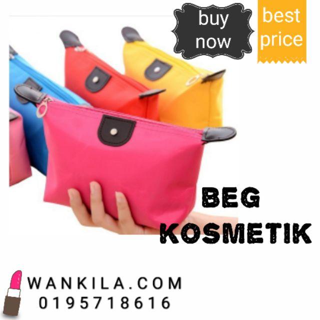 Mini Beg kosmetik Cosmetic Travel Makeup Storage Zip Pouch Makeup Bag Purse