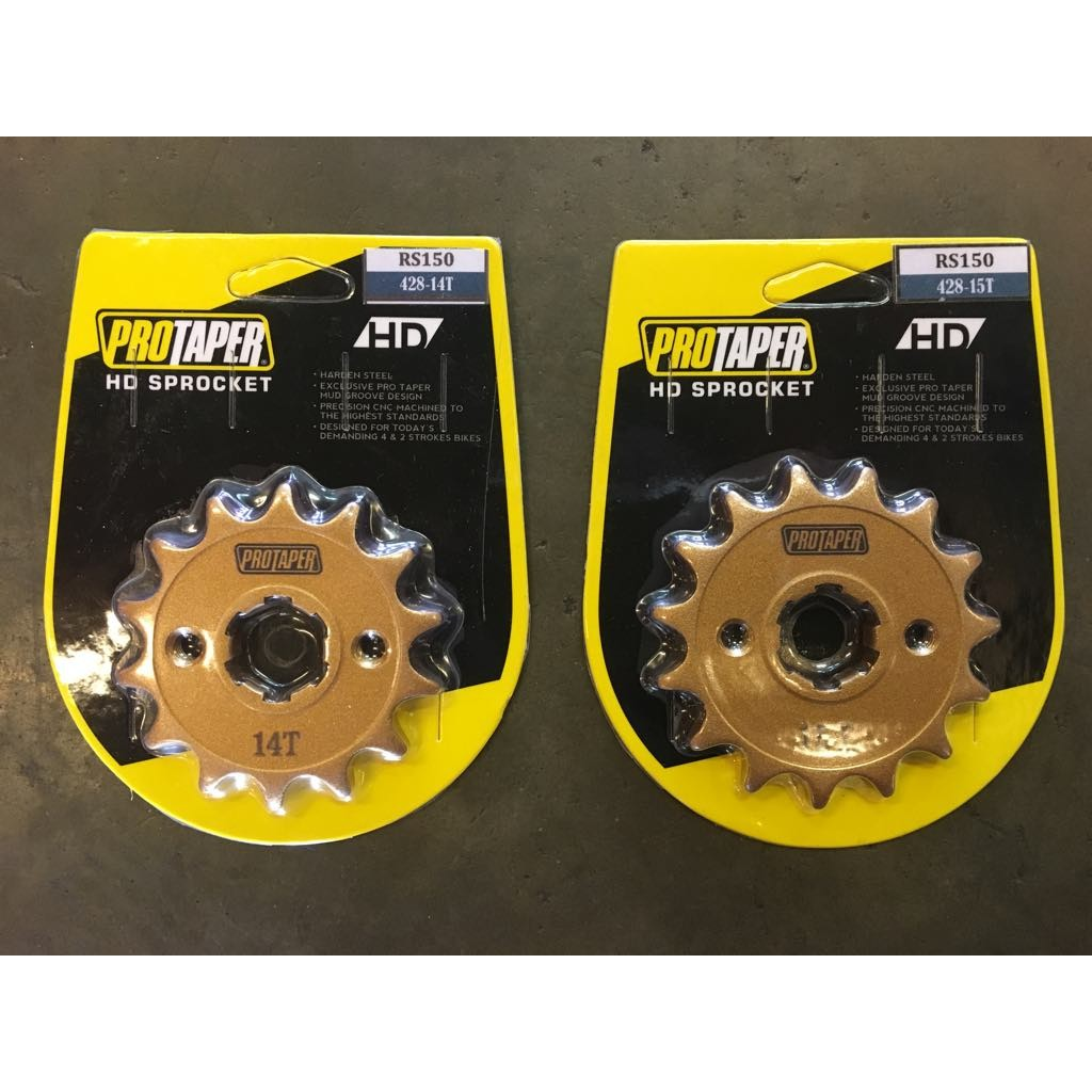 428 RS150 PROTAPER HD (FRONT) SPROCKET - 14T / 15T