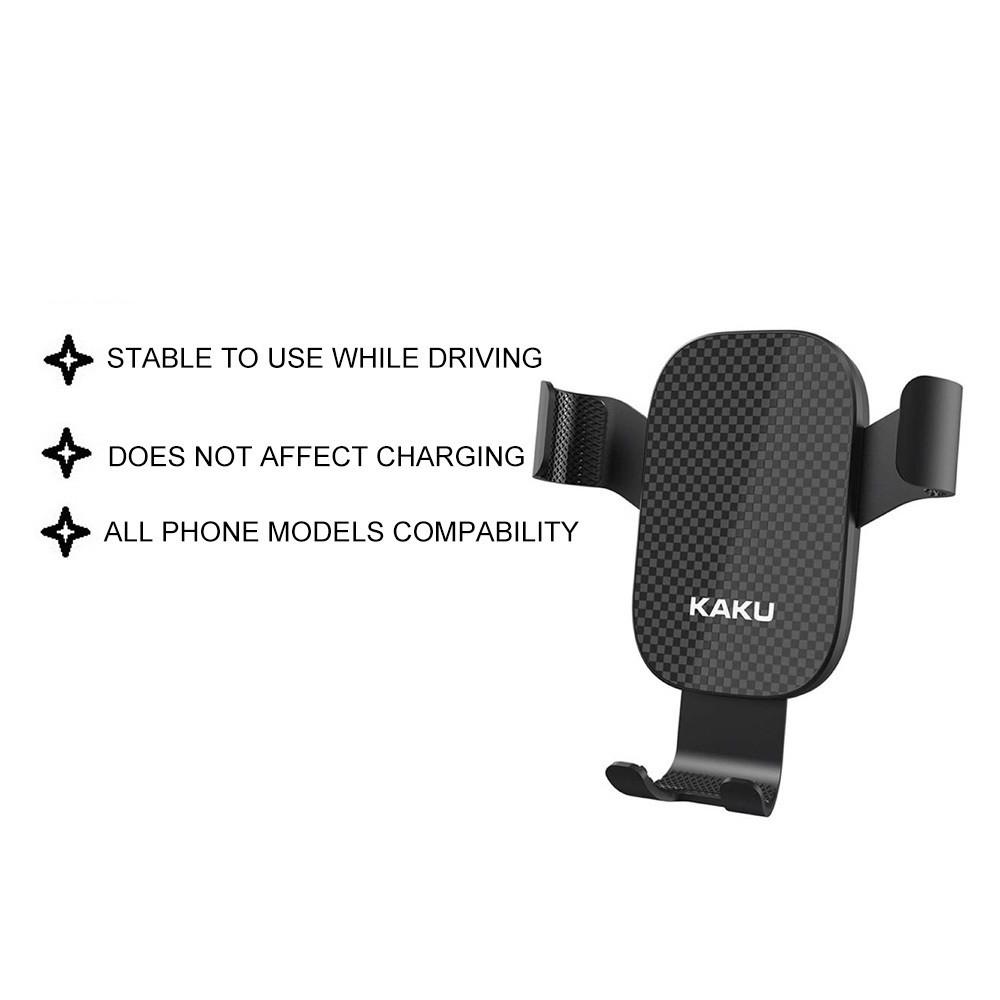 IKAKU KAKU FEITU Car Phone Holder Mount Stand Light Luxury Alloy Gravity Linkage High Quality Compatible All Smartphone