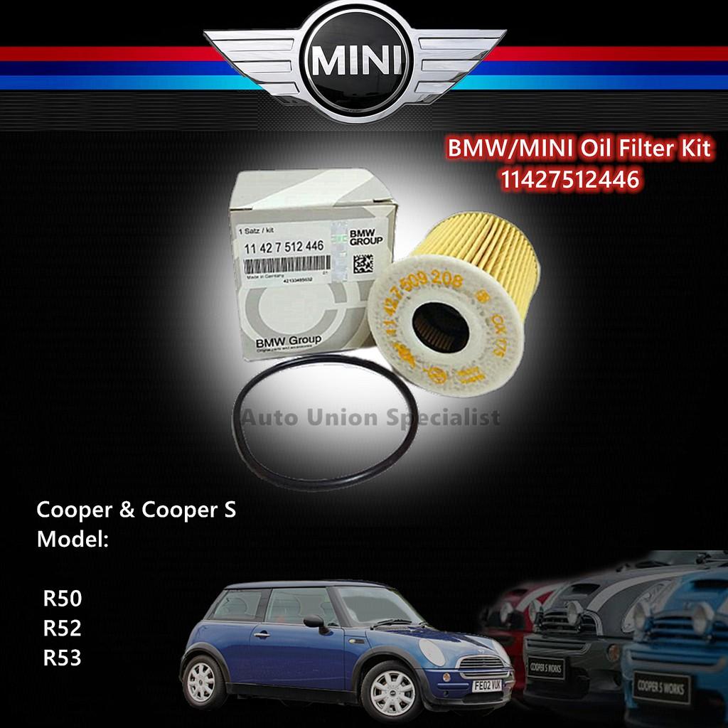 Genuine BMW Oil Filter Kit 11427512446 - Mini Cooper, Cooper S (R50, R53)