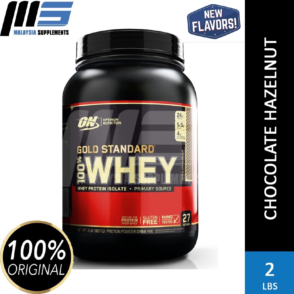 ON Gold Standard Whey Protein 2lbs - Optimum Nutrition Whey Protein Powder Muscle Building