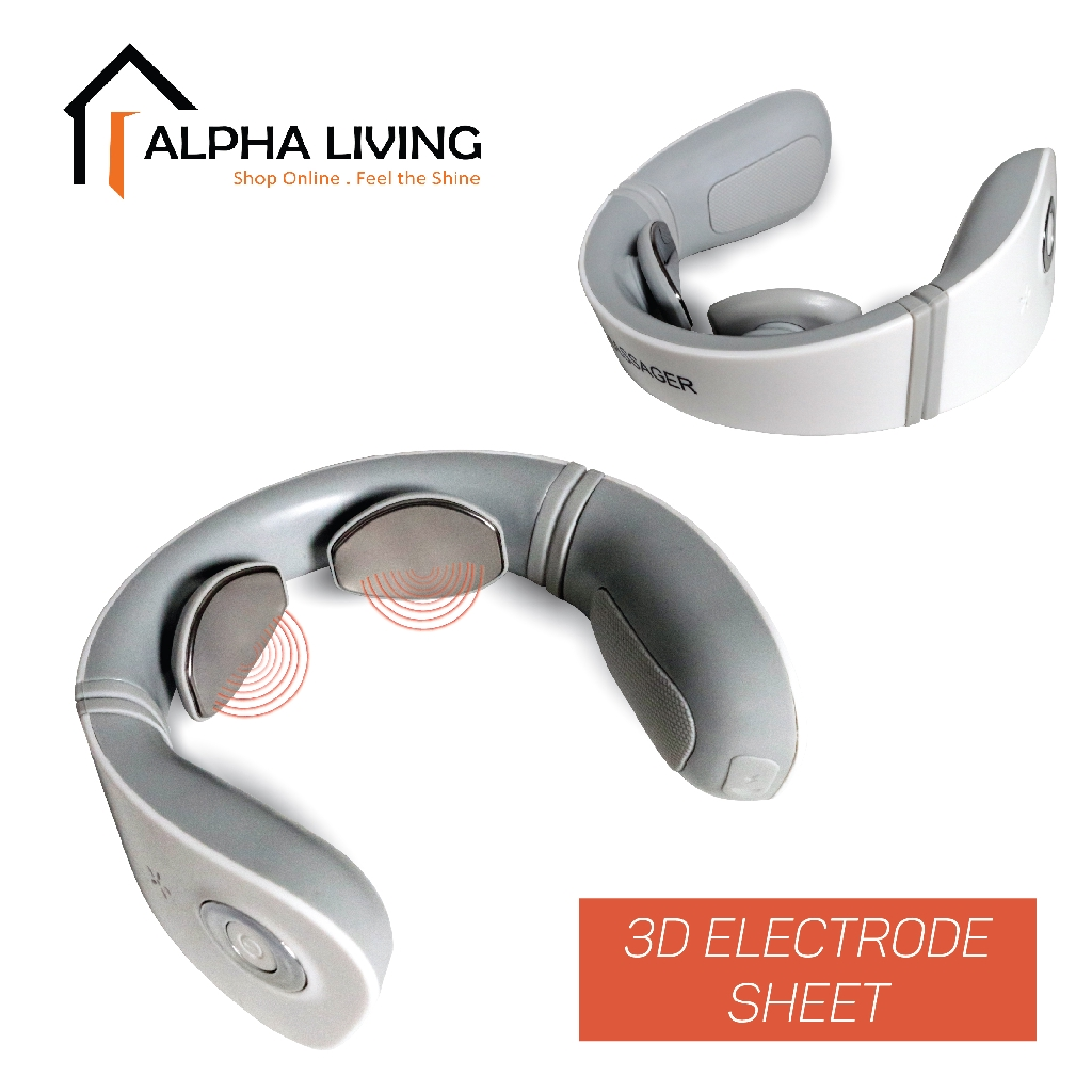 Smart Neck Massager Electromagnetic Shock Pulse Cervical Physical Therapy Instrument (HEA0002)