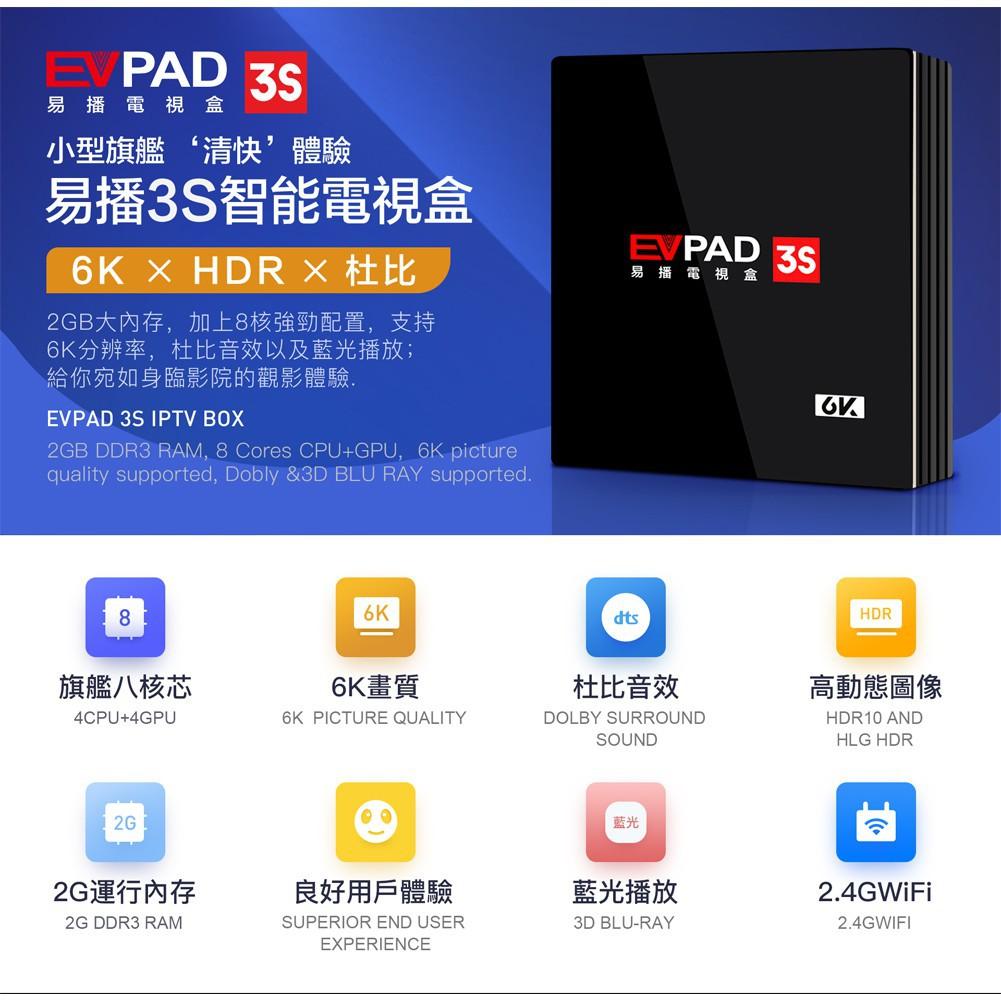 🎁 + EVPAD 3S TV BOX Msia Version 6k Dolby Sound (EVPAD 3S, EVPAD 3, EVPAD  3Max)