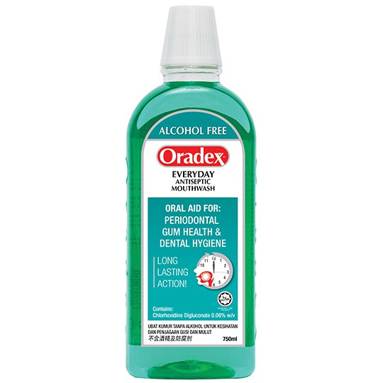 ORADEX Everyday Antiseptic MouthWash 750ml (EXP: 02/2021)