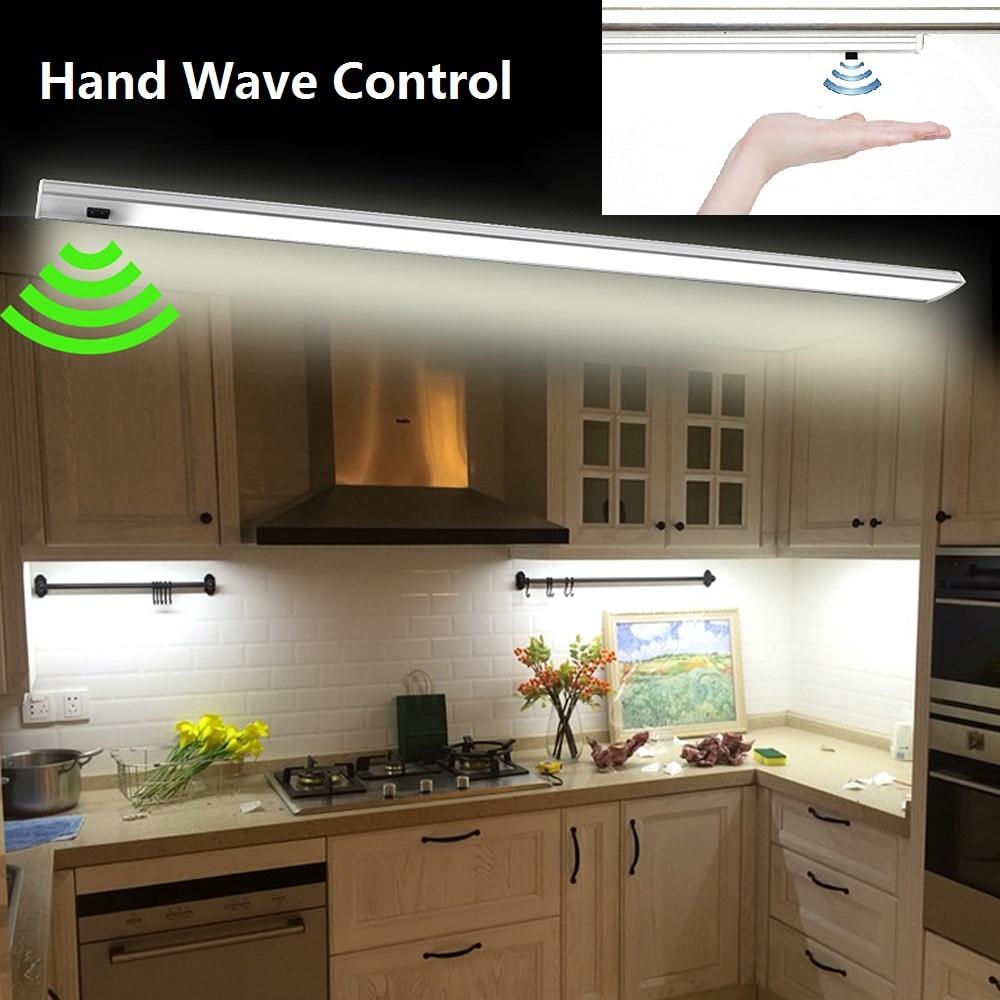 Led Hand Wave Under Cabinet Light Infrared Sensor Rigid Strip Bar Light Kitchen