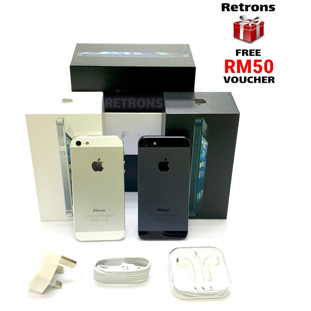 🇲🇾 Seller Original Apple iPhone 5 32GB 98% Like New Used Phone with 1 Month Warranty